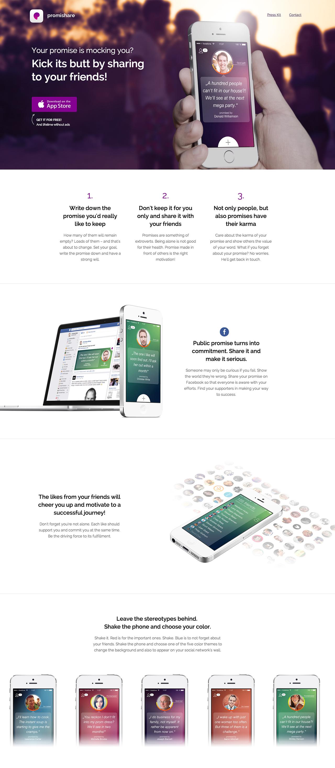 Promishare Website Screenshot