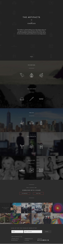 The Artifacts Website Screenshot
