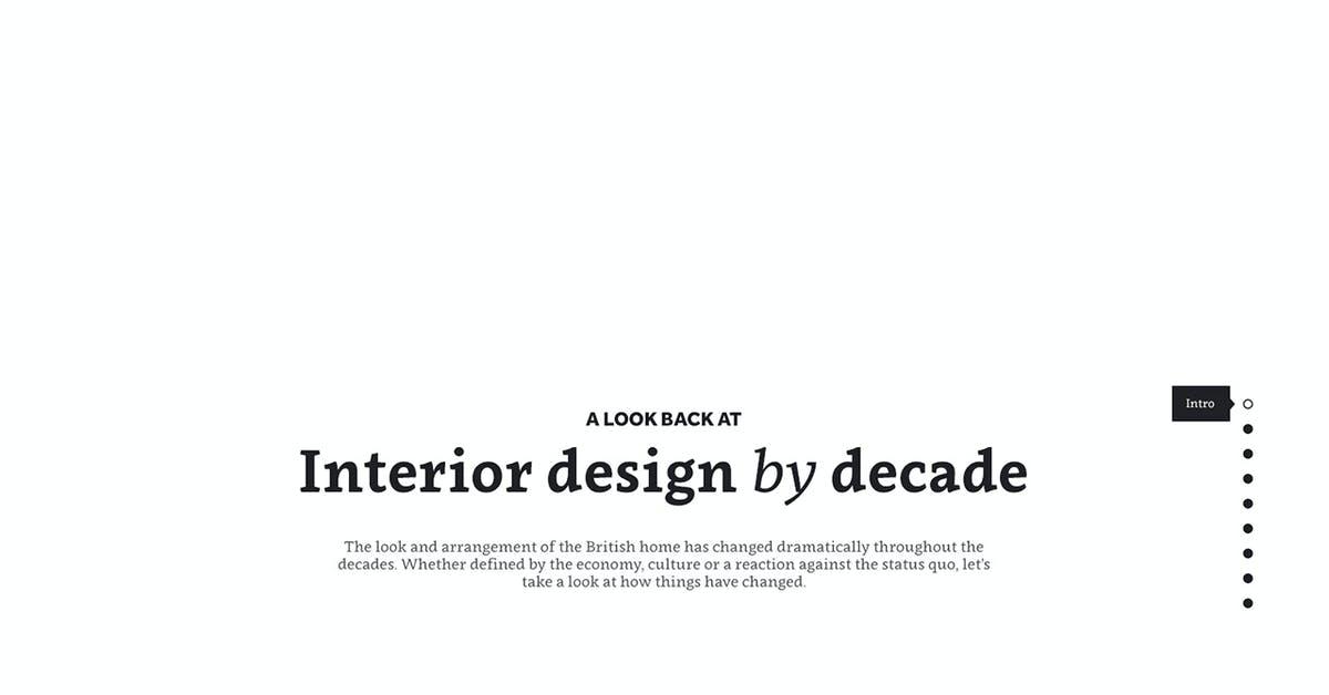 Interior Design by Decade - Most Loved Website Award