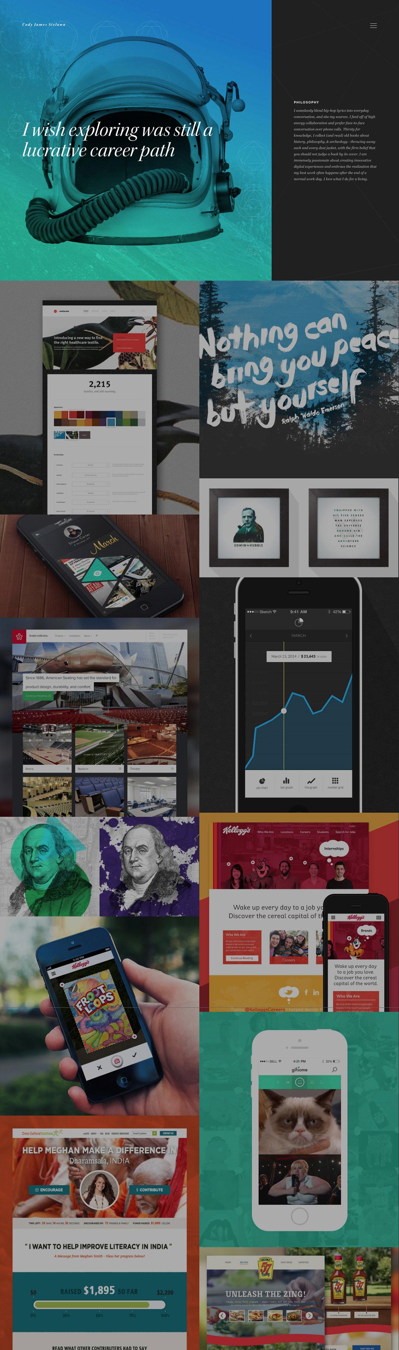 Cody James Sielawa Website Screenshot