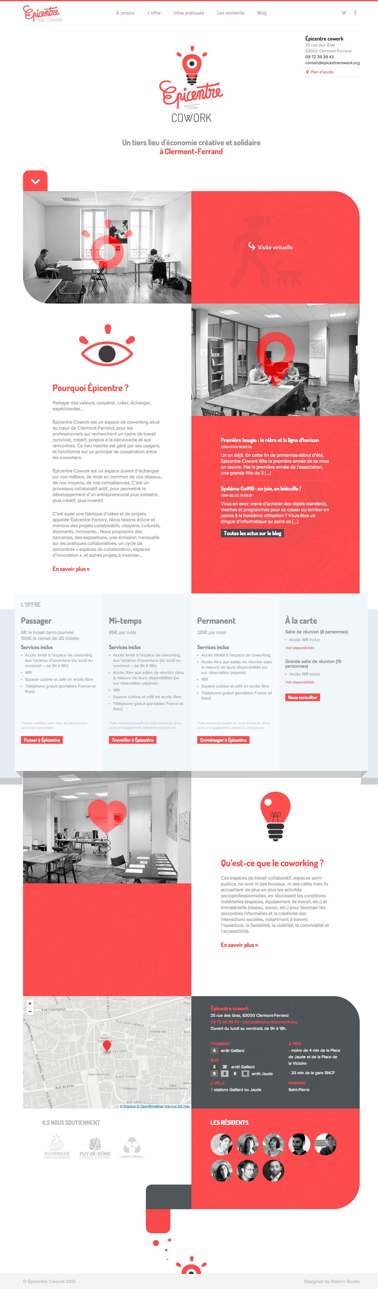 Epicentre Cowork Website Screenshot