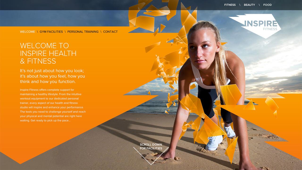 Inspire Fitness Website Screenshot