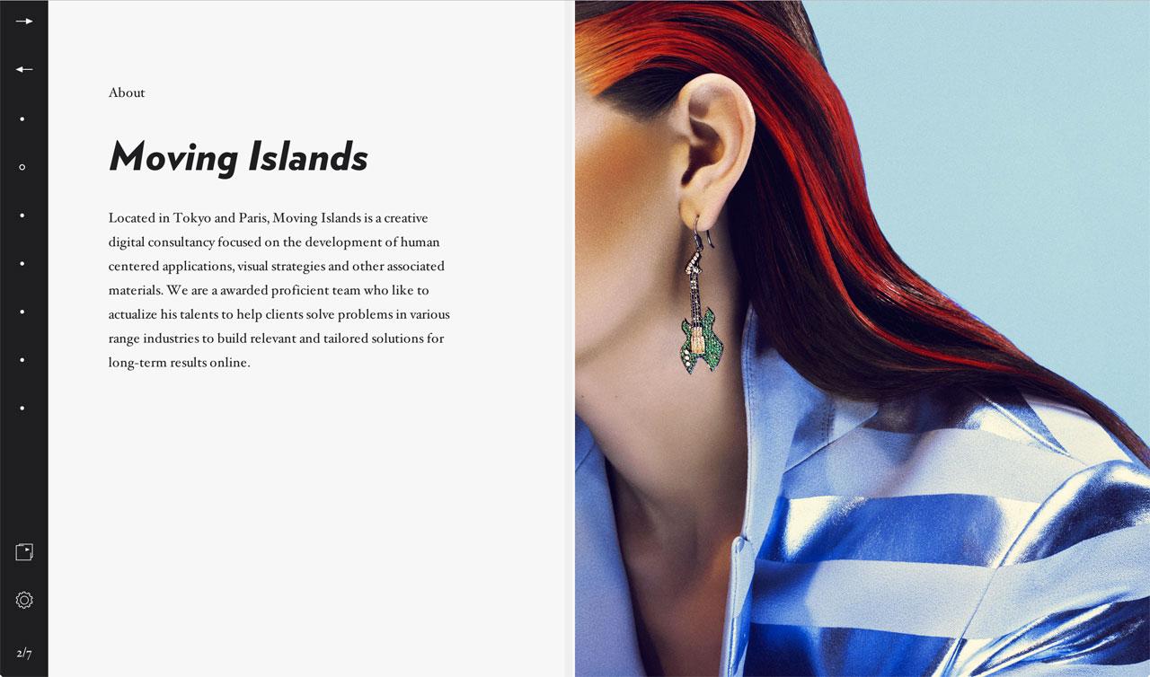 Moving Islands Website Screenshot