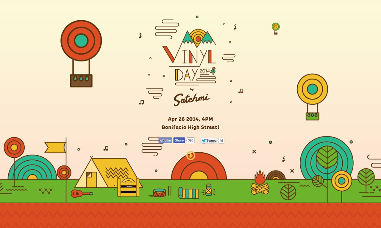 Vinyl Day 2014 Website Screenshot