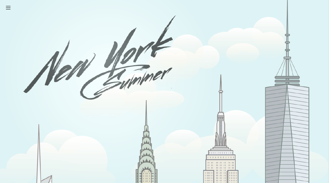My New York Summer Website Screenshot