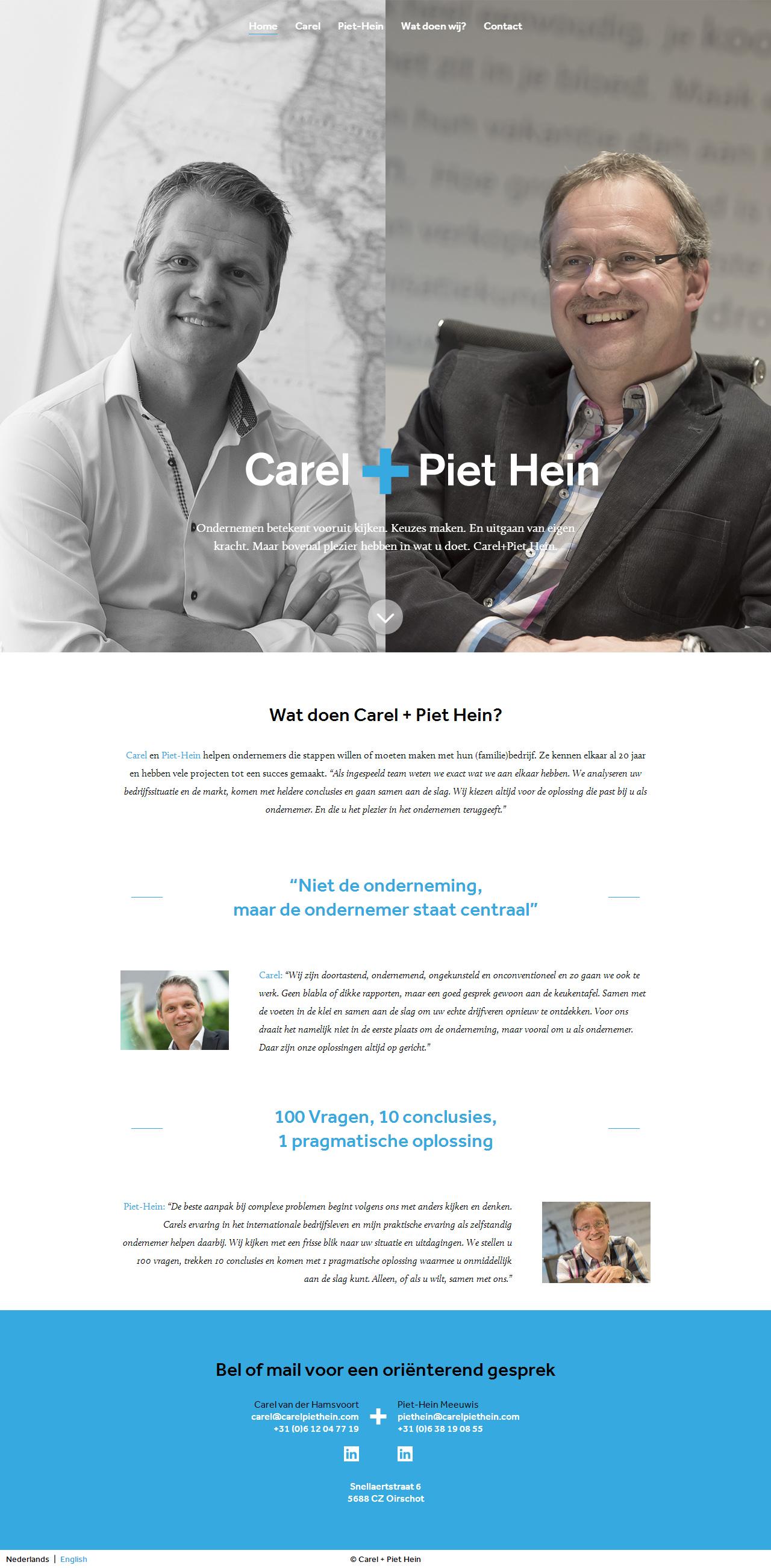 Carel + Piet Hein Website Screenshot