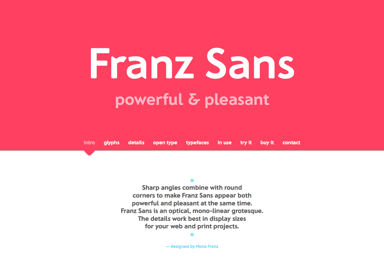Franz Sans Website Screenshot