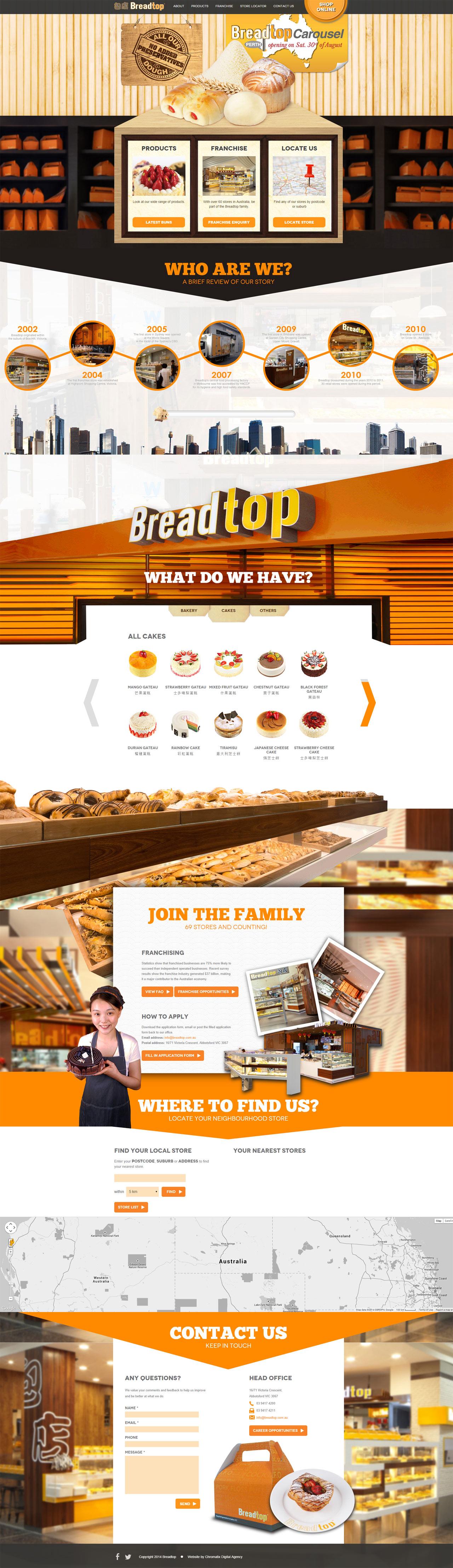 Breadtop Website Screenshot