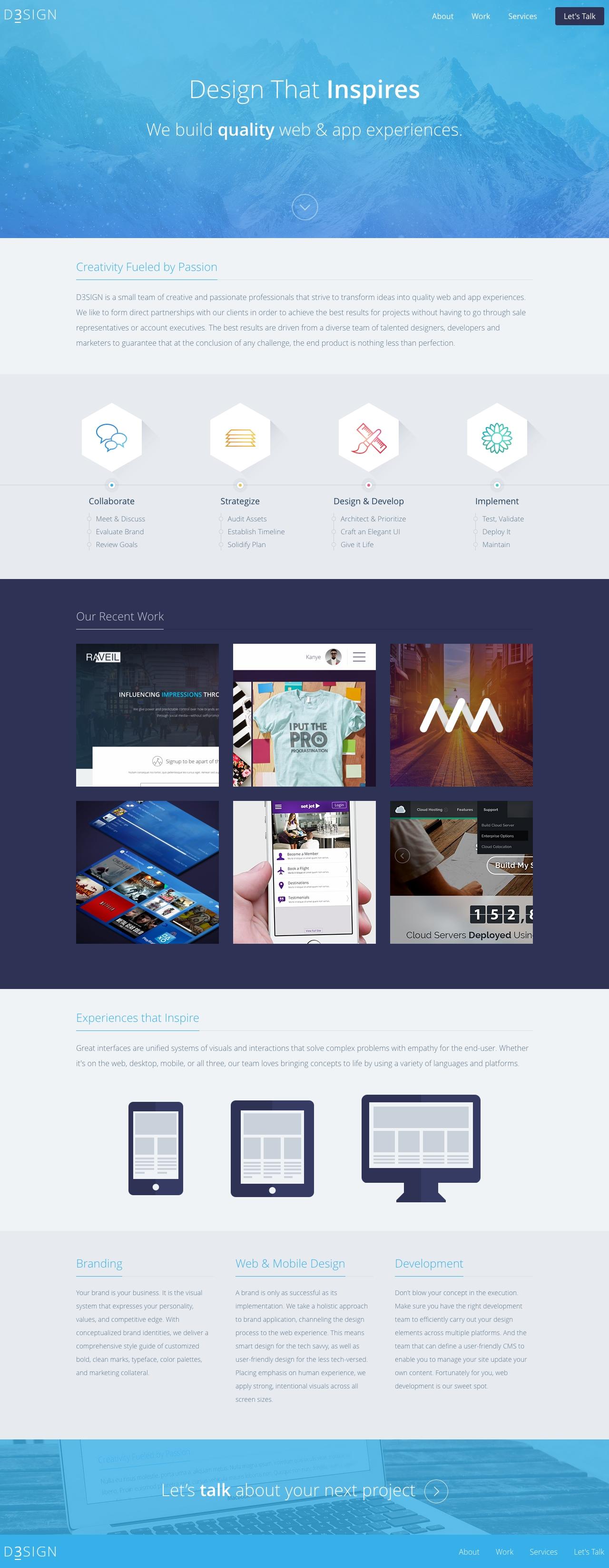 D3SIGN Website Screenshot