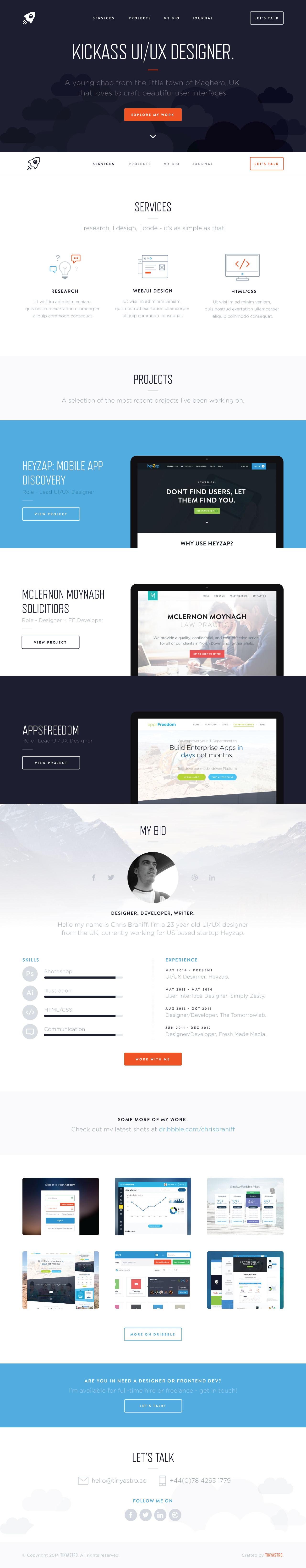 TinyAstro Website Screenshot