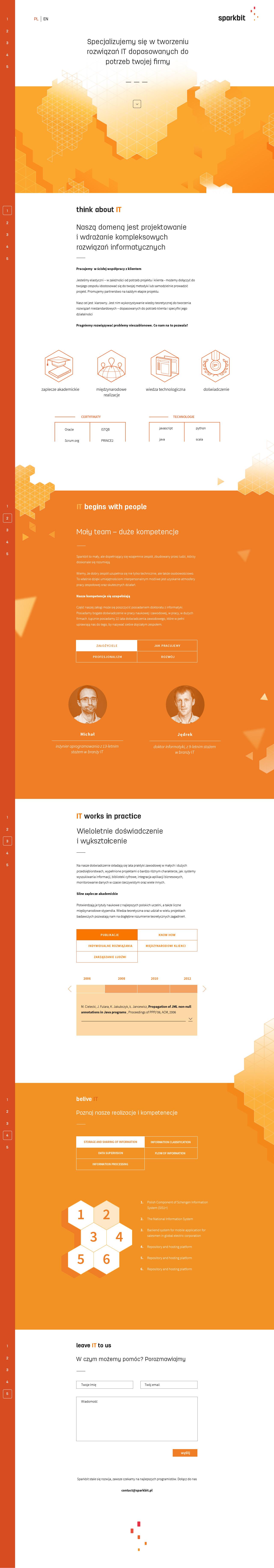 Sparkbit Website Screenshot