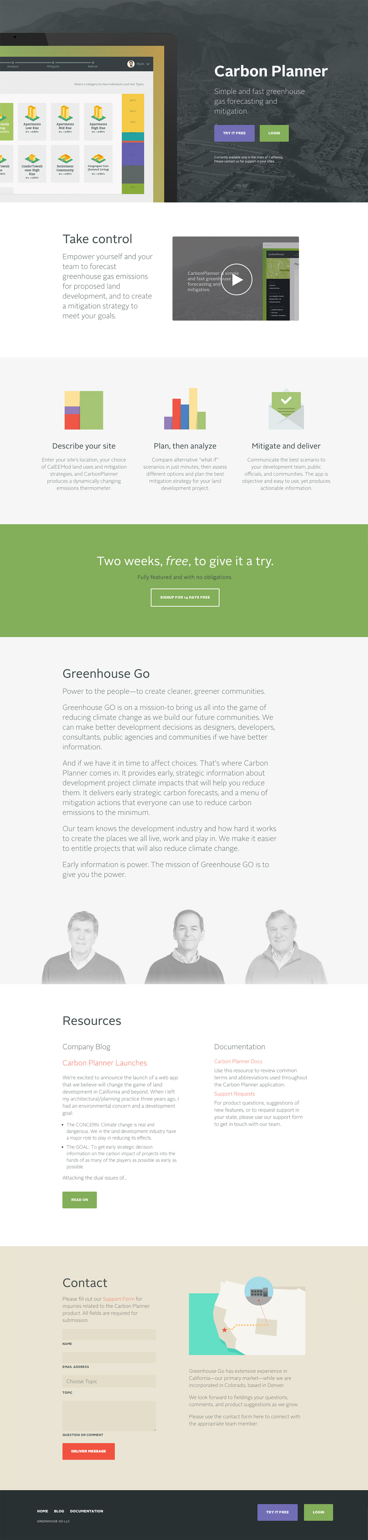 Greenhouse Go Website Screenshot