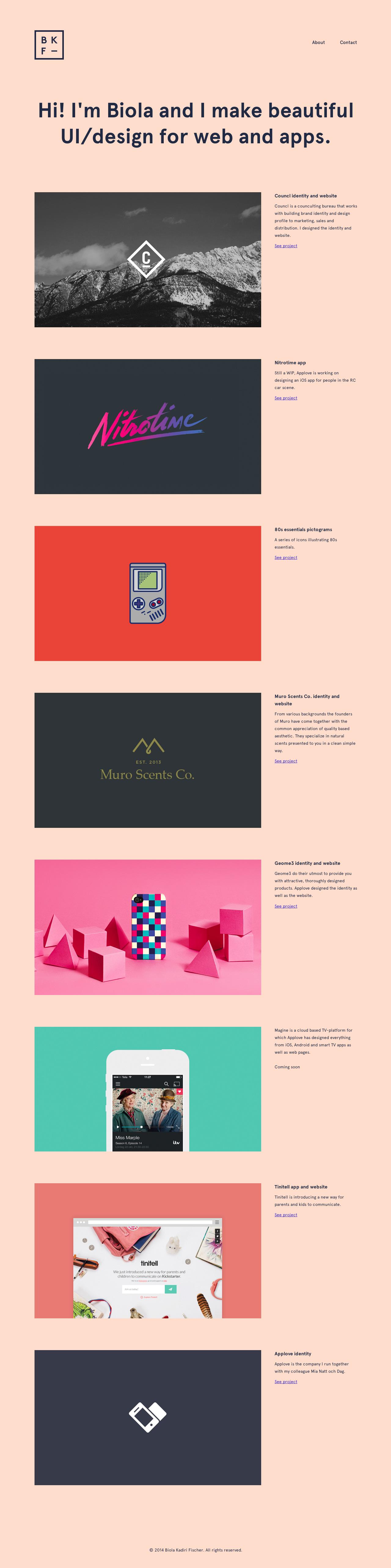 Biola Kadiri Fischer Website Screenshot