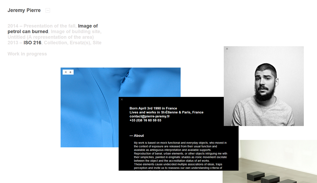 Jeremy Pierre Website Screenshot