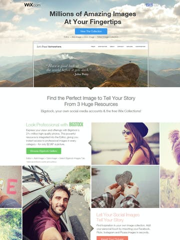 Wix – Million of Images At Your Fingertips Thumbnail Preview