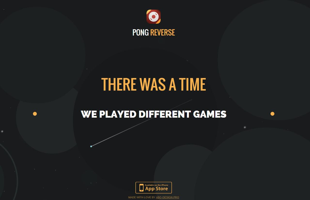 Pong Reverse Website Screenshot