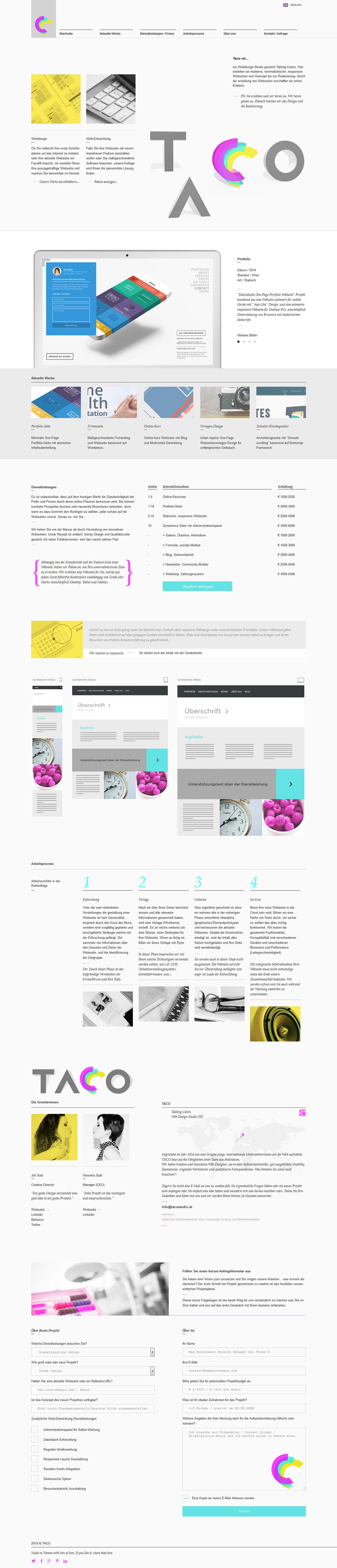 Talking Colors Web Design Studio Website Screenshot