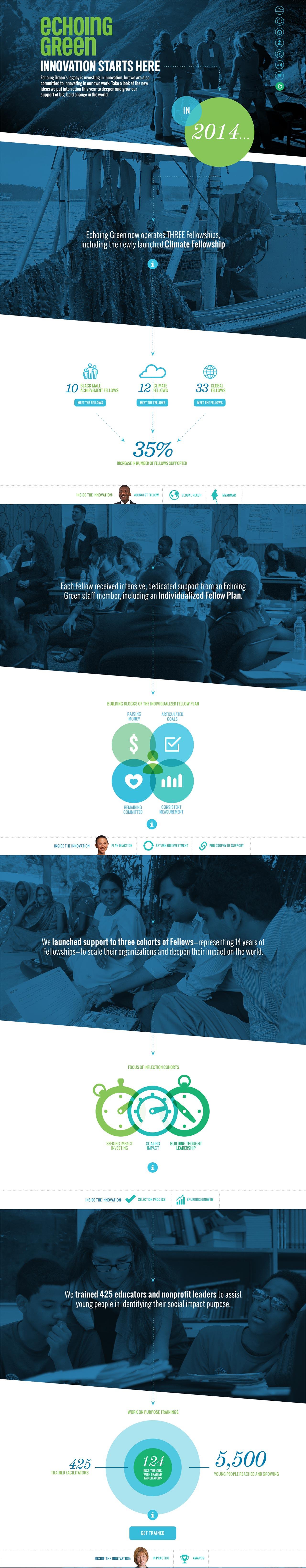 Echoing Green Annual Report Website Screenshot