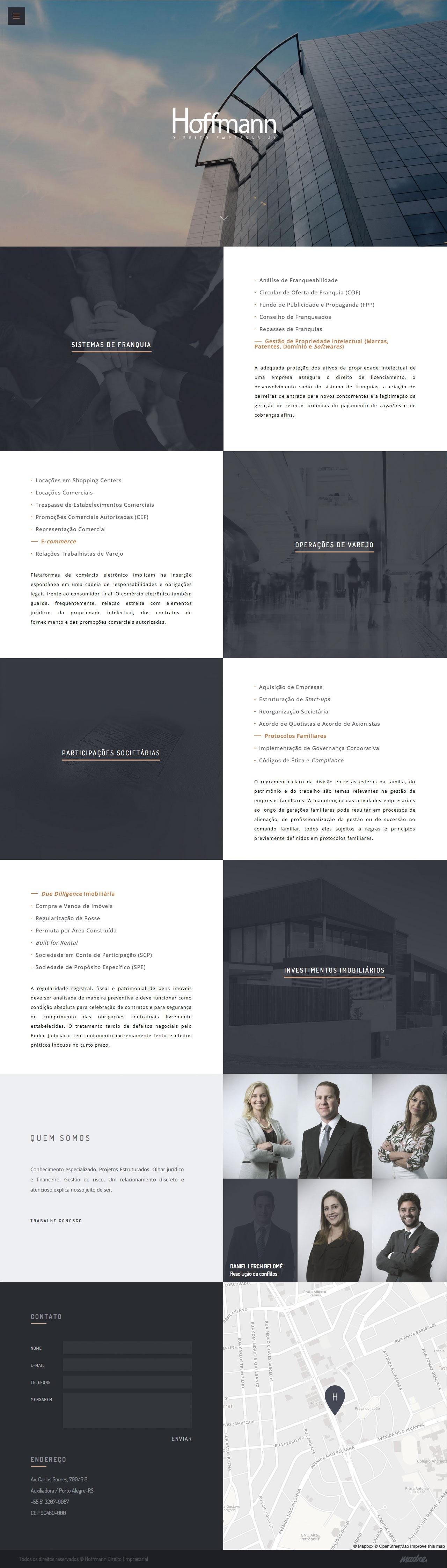 Hoffmann – Direito Empresarial Website Screenshot