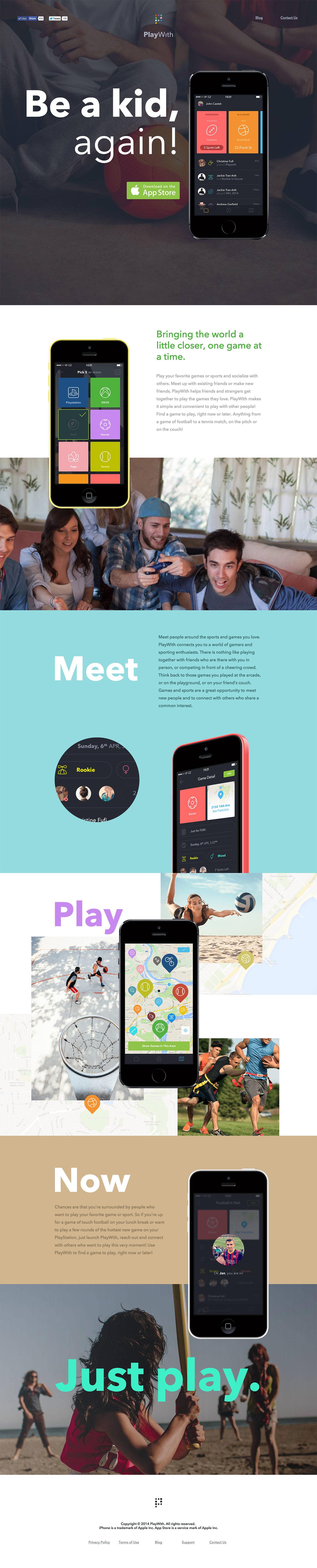 PlayWith Website Screenshot