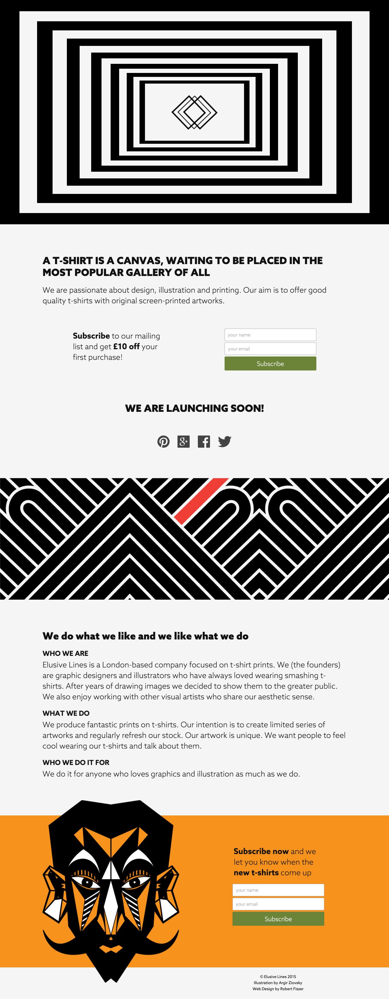 Elusive Lines Website Screenshot