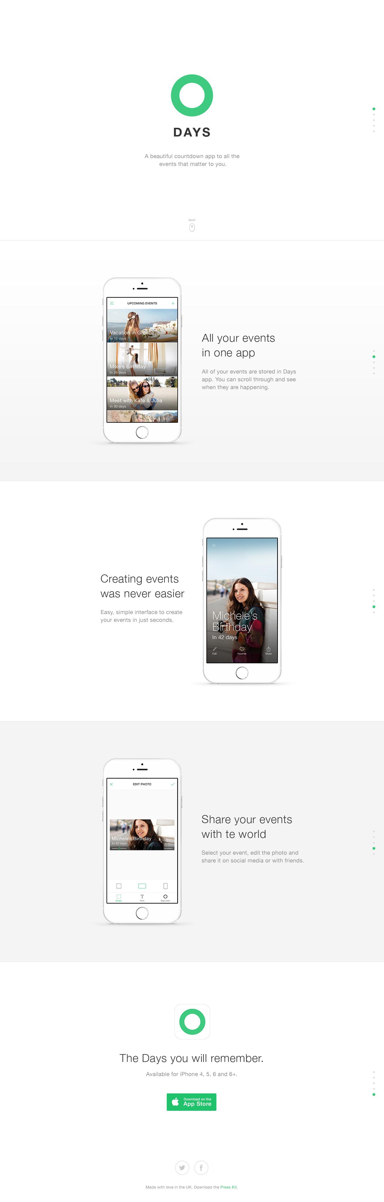 Days – Event Countdown Website Screenshot