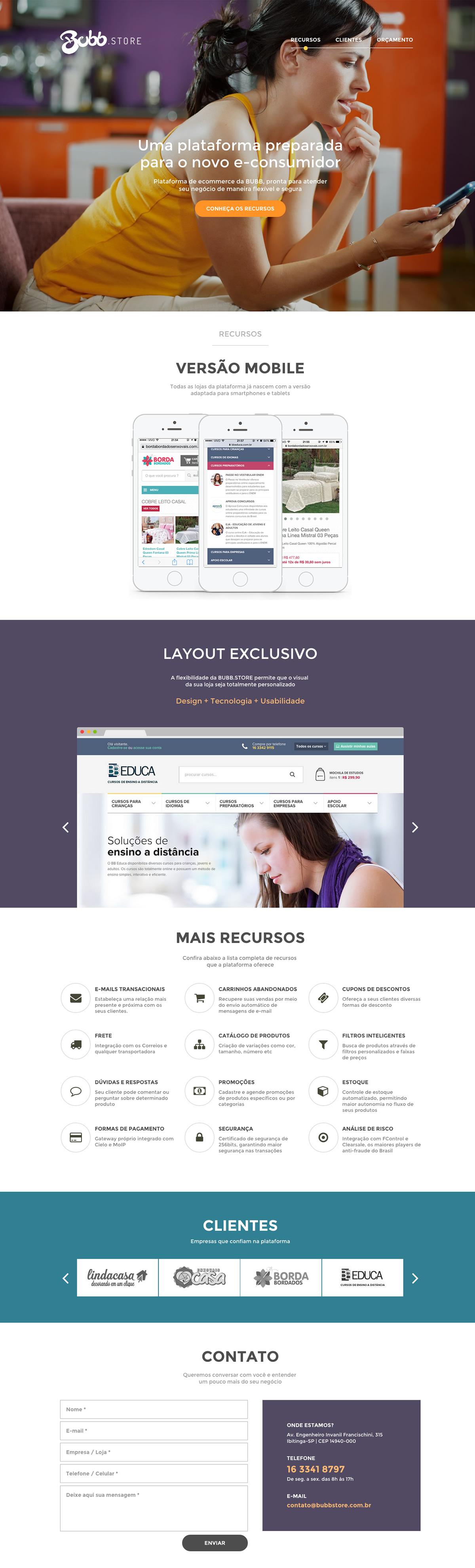 Bubb.Store Website Screenshot