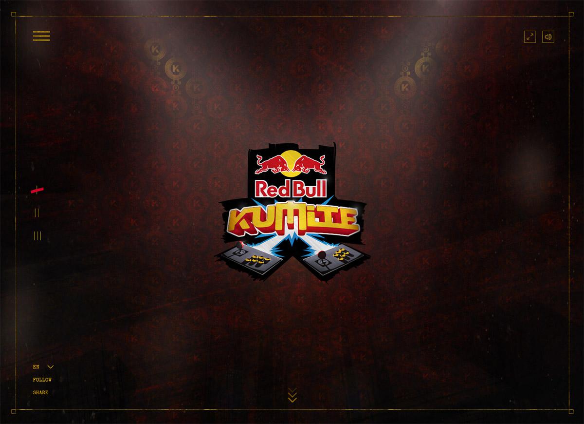 Red Bull Kumite Website Screenshot
