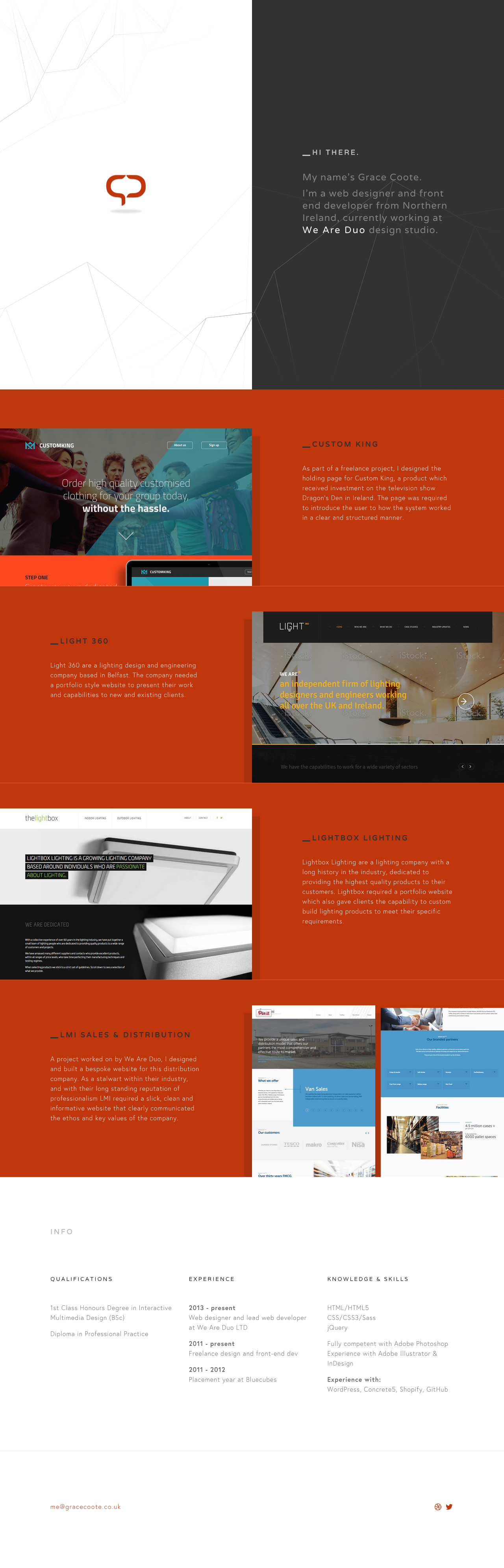 Grace Coote Website Screenshot