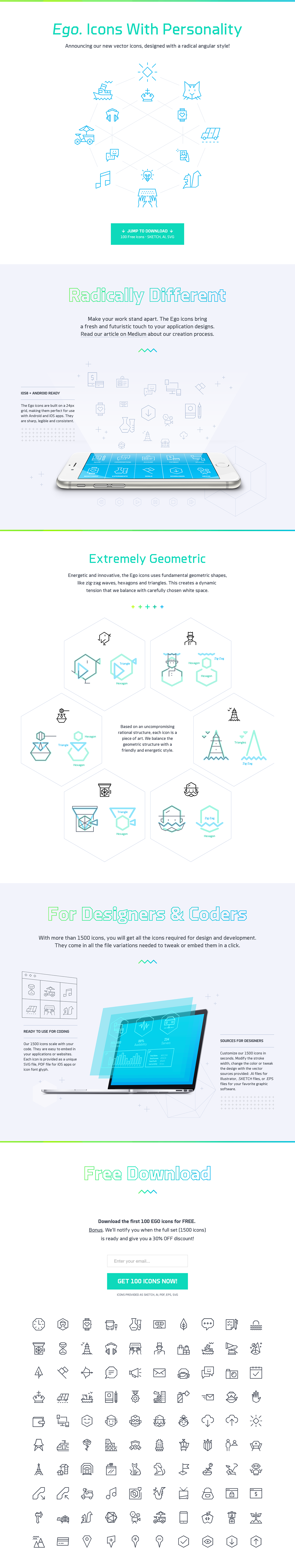 Ego Icons Website Screenshot