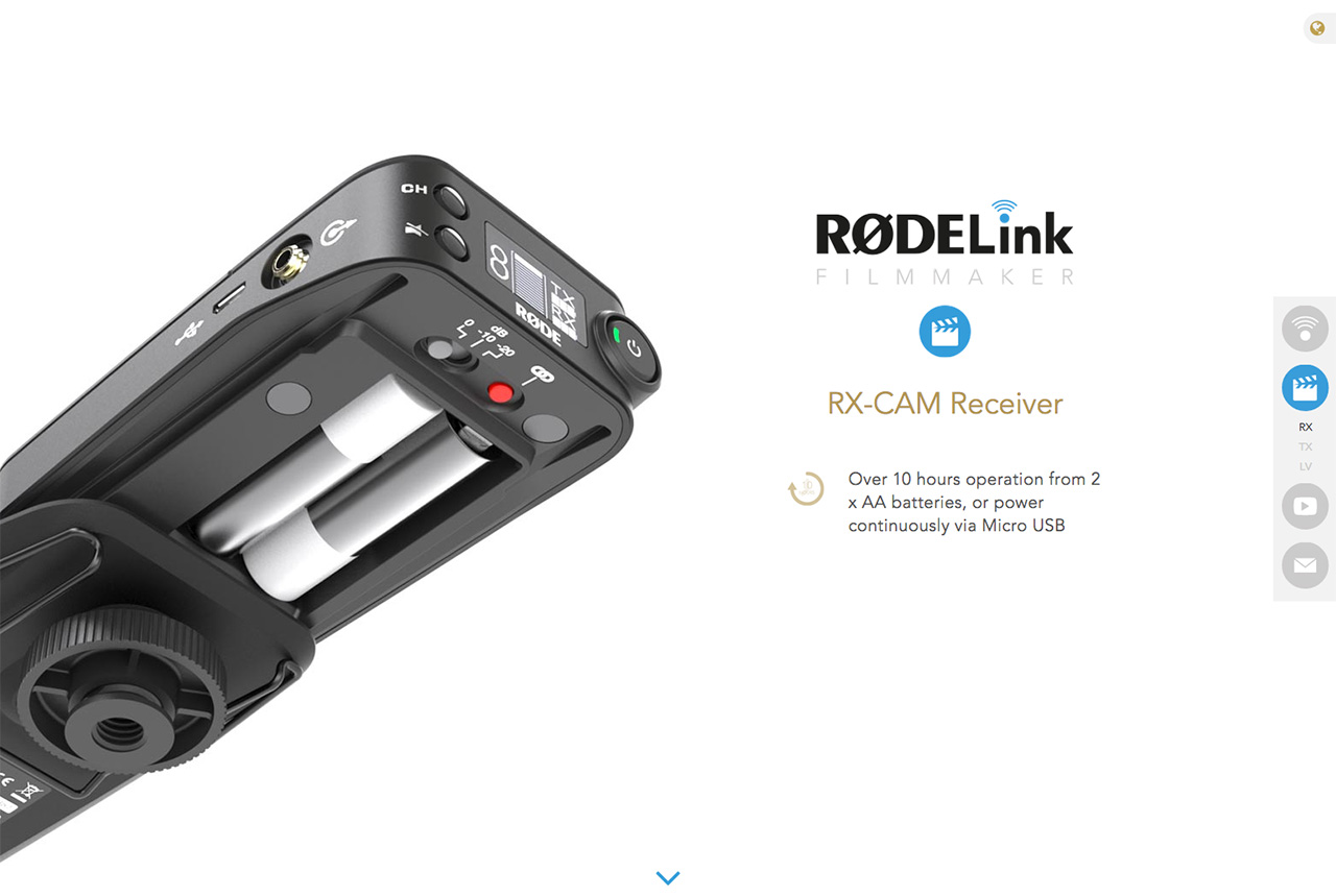 RØDELink Wireless Website Screenshot