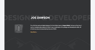 Joe Dawson Thumbnail Preview