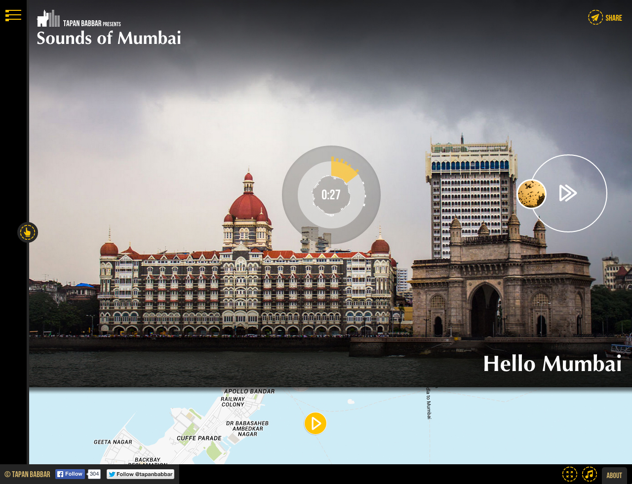 Sounds of Mumbai Website Screenshot