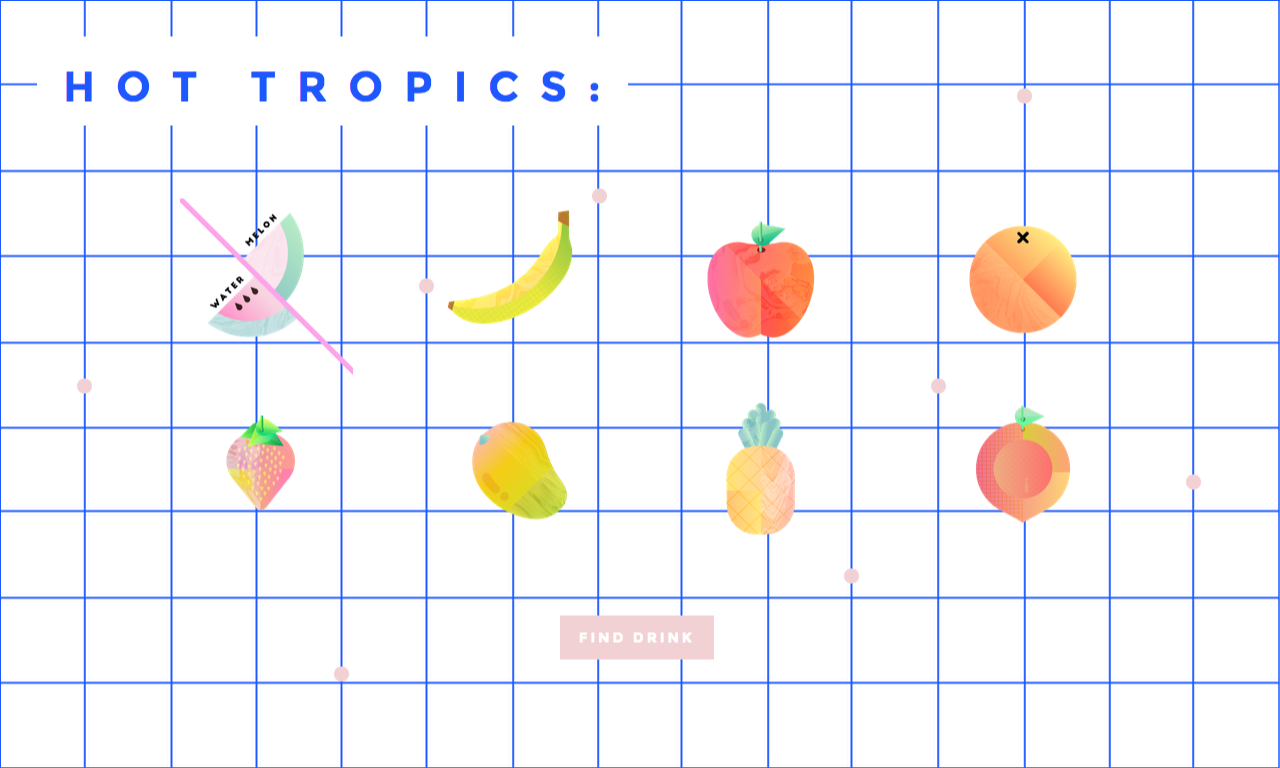 The Hot Tropics Website Screenshot