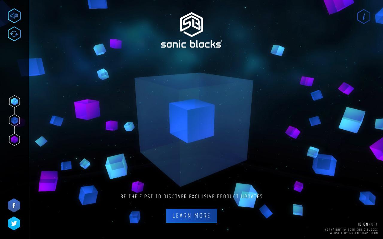 Sonic Blocks Website Screenshot