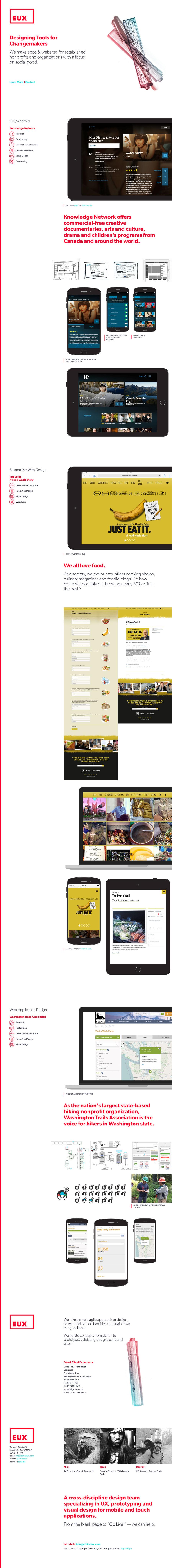 EUX Website Screenshot