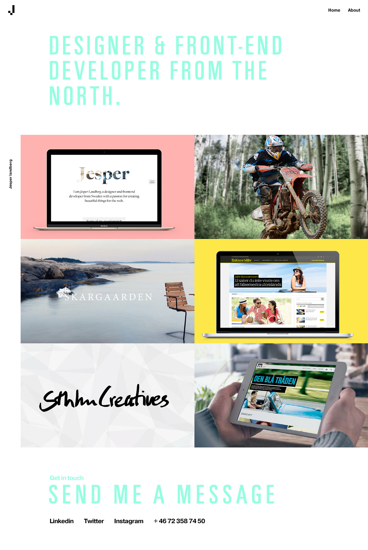 Jesper Landberg Website Screenshot