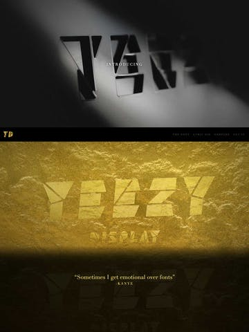 Yeezy Display – The (unofficial) Kanye Font Thumbnail Preview