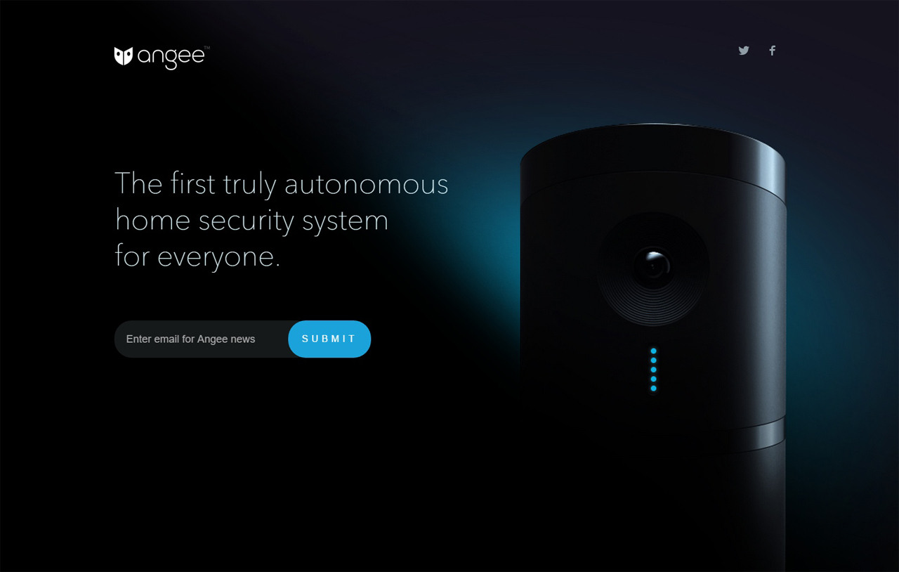 Angee Website Screenshot