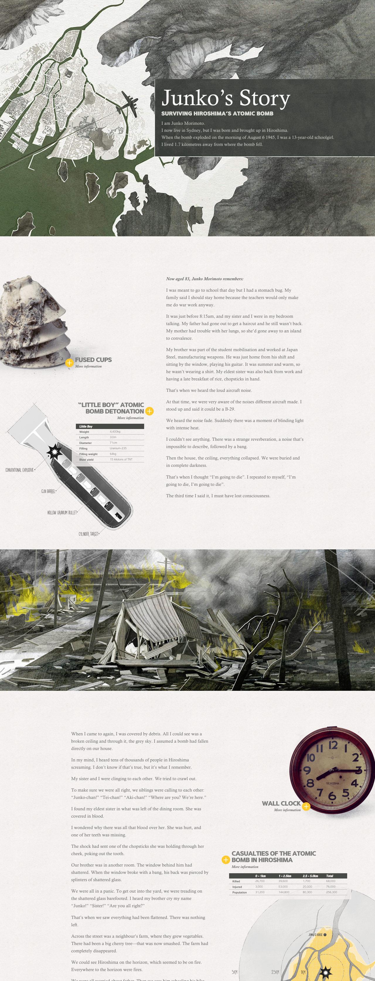 Junko's Story: Surviving Hiroshima's Atomic Bomb Website Screenshot