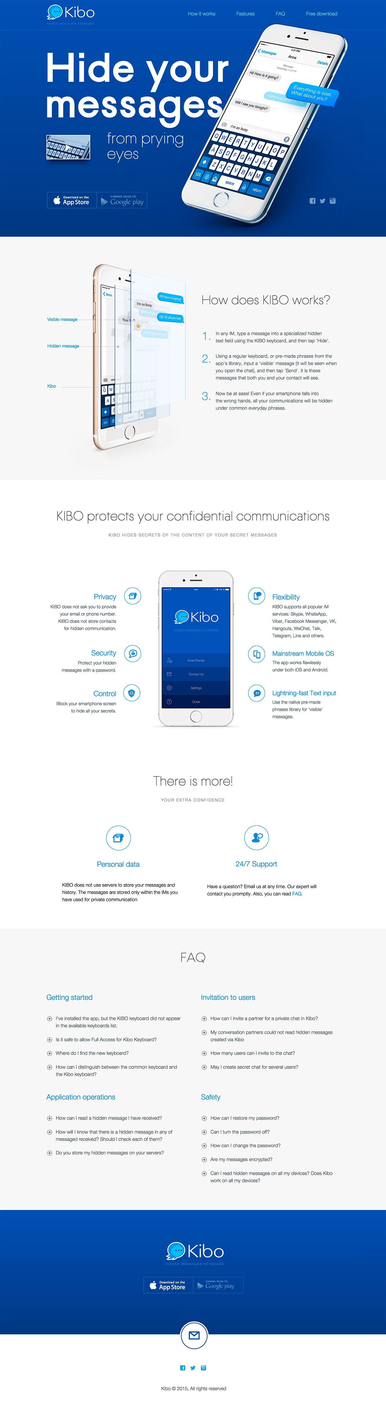 Kibo Website Screenshot
