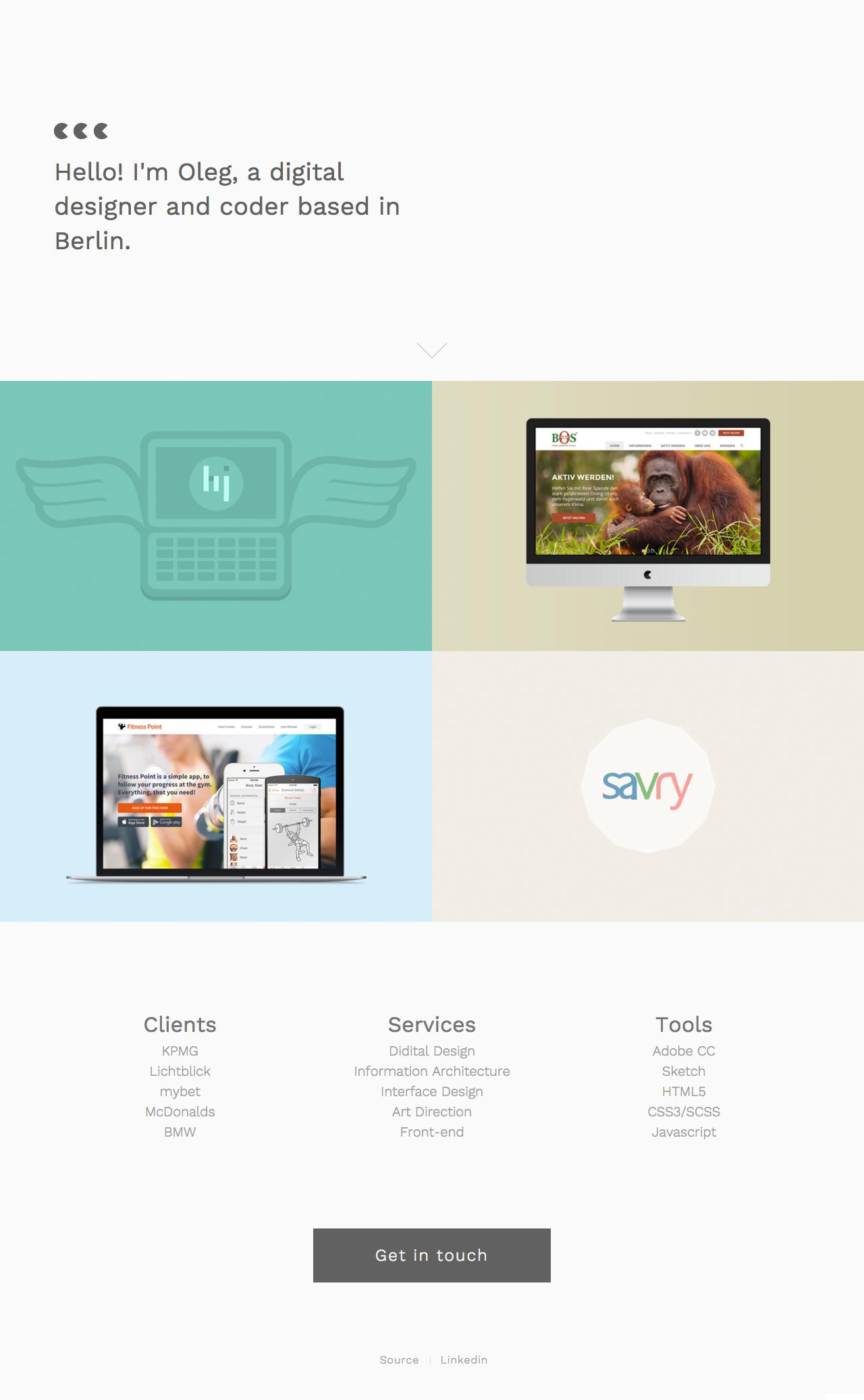 Oleg Zayarniy Website Screenshot
