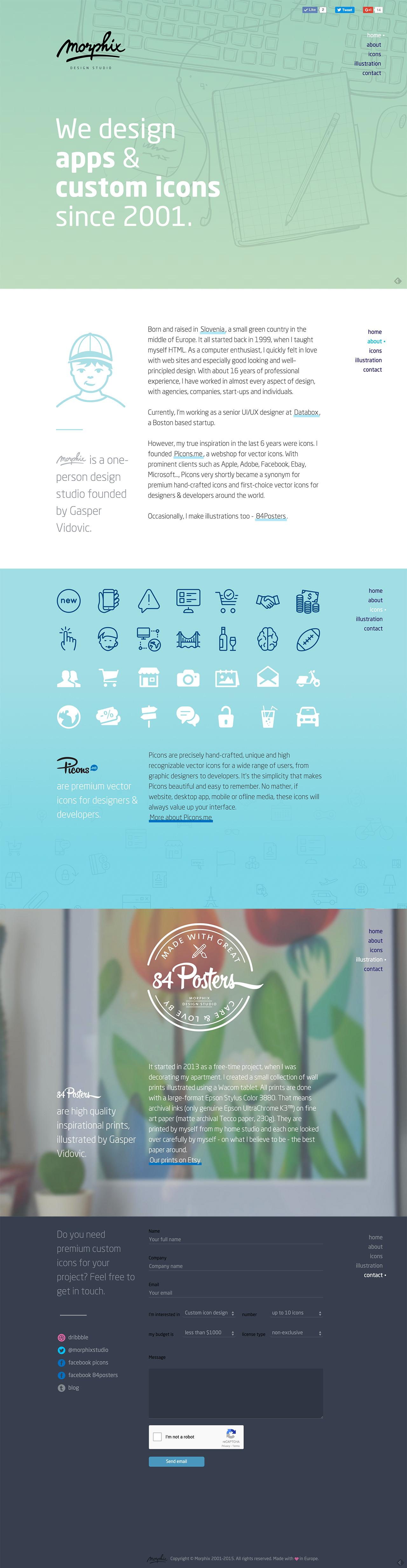 Morphix Design Studio Website Screenshot