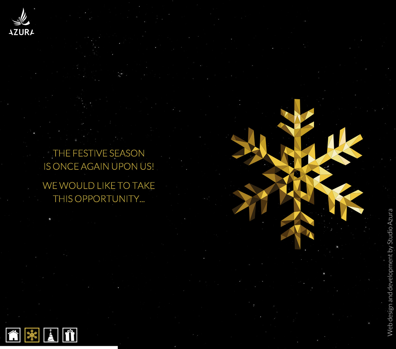 Happy Holidays 2015 from Studio Azura Website Screenshot