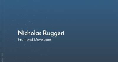 Nicholas Ruggeri Thumbnail Preview