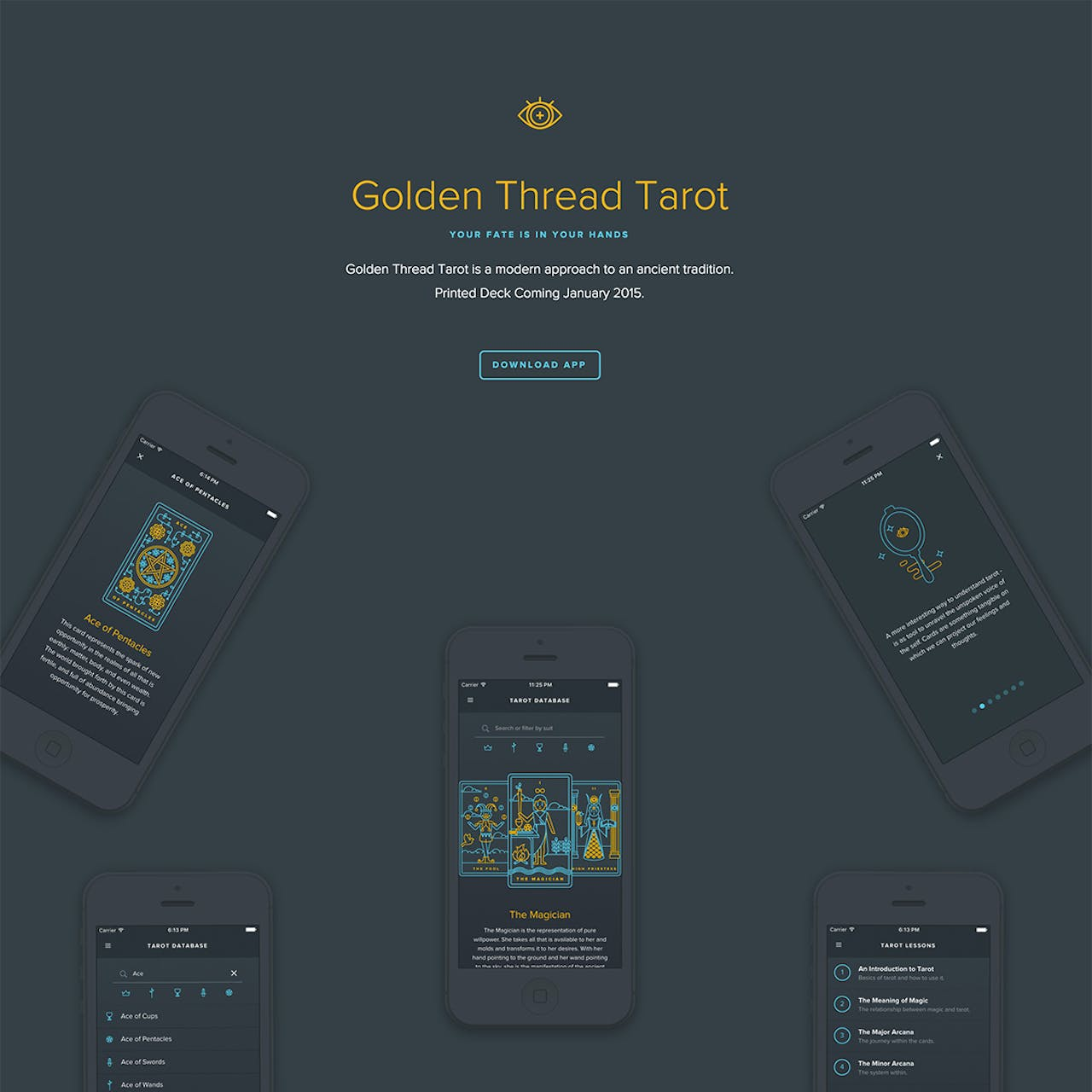 Golden Thread Tarot Website Screenshot