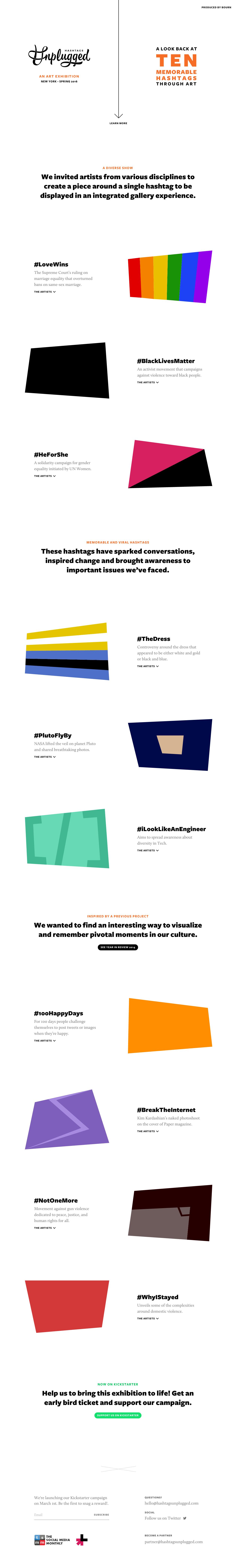 Hashtags Unplugged Website Screenshot