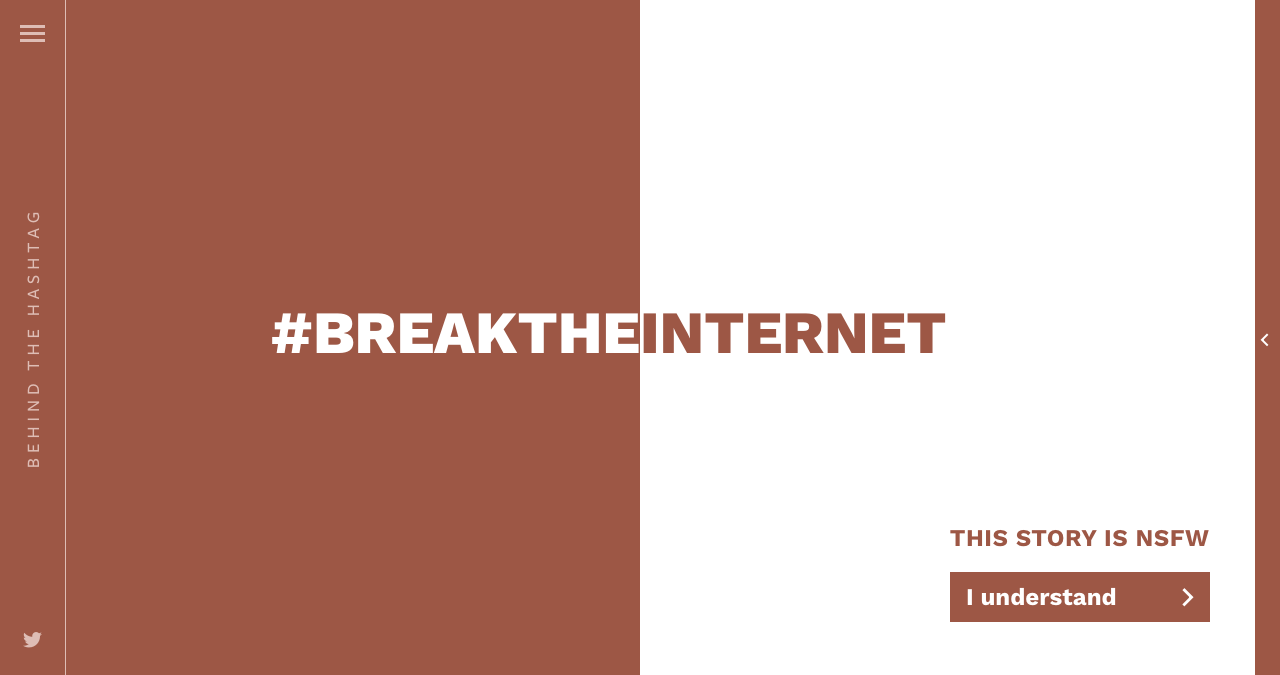 Behind The Hashtag: #BreakTheInternet Website Screenshot