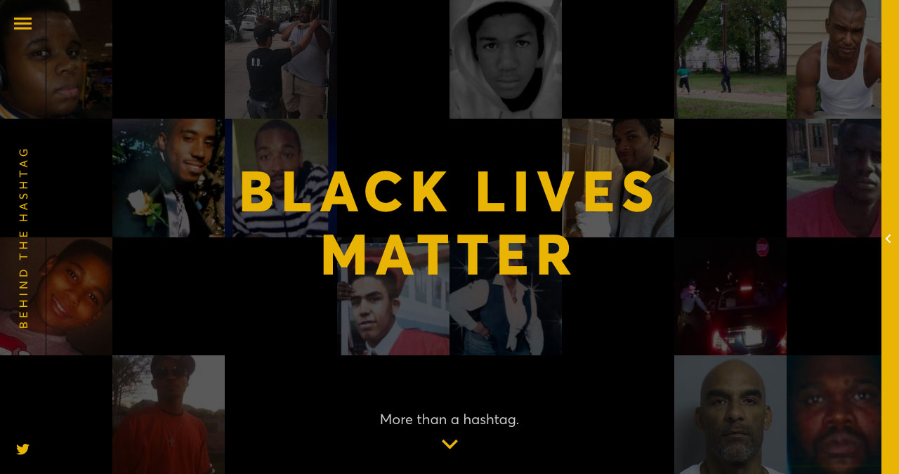 Behind The Hashtag: #BlackLivesMatter Website Screenshot