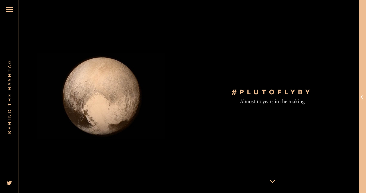 Behind The Hashtag: #PlutoFlyBy Website Screenshot